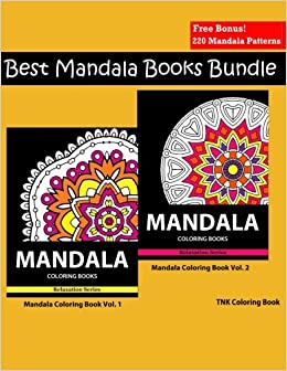 Amazon Mandala Coloring Book Best Books Bundle Vol 1 2 For Adults Relaxation Meditation