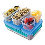 : Rubbermaid LunchBlox Leak-Proof Entree Lunch Container Kit, Large, Blue