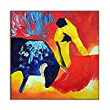 Cube Shape Wall Art HD Canvas Print Decorative Oil Painting Picture Colorful Bull Fighting Artwork