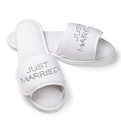 JUST Married Bridal Slippers with Rhinestones (S/M for sale  Delivered anywhere in USA