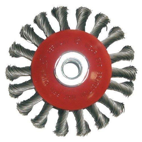 Rundbürste 100 x M14 x 0,5 / 45° Kegel, gezopfter Stahldraht , für Winkelschleifer Dronco