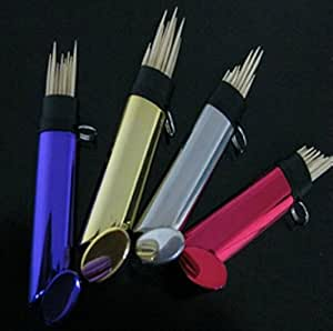 Pocket toothpick holder portable stainless steel portable keychain toothpick holder - Portable toothpick holder ...