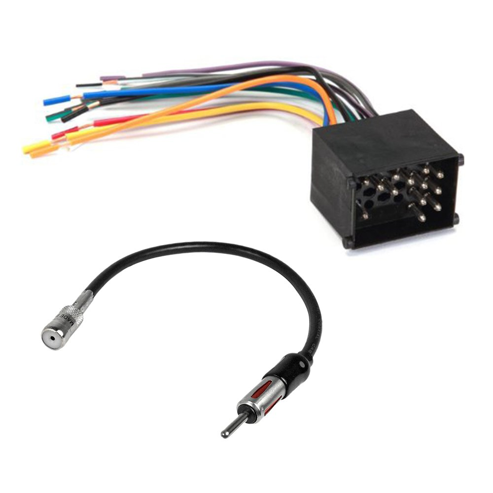 Amazon.com: BMW Complete CAR Stereo Radio CD Player Installation KIT Wire  Harness & Antenna: Car Electronics