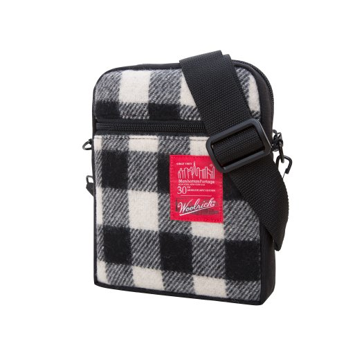 manhattan-portage-woolrich-buffalo-check-city-lights-bag-white-black-one-size