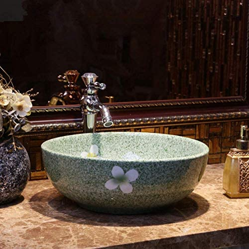 CCAN Y樹脂洗面台天然石楕円形凹型セラミックシンク洗面台セラミックカウンタートップ洗面台青と白のバスルーム洗面台