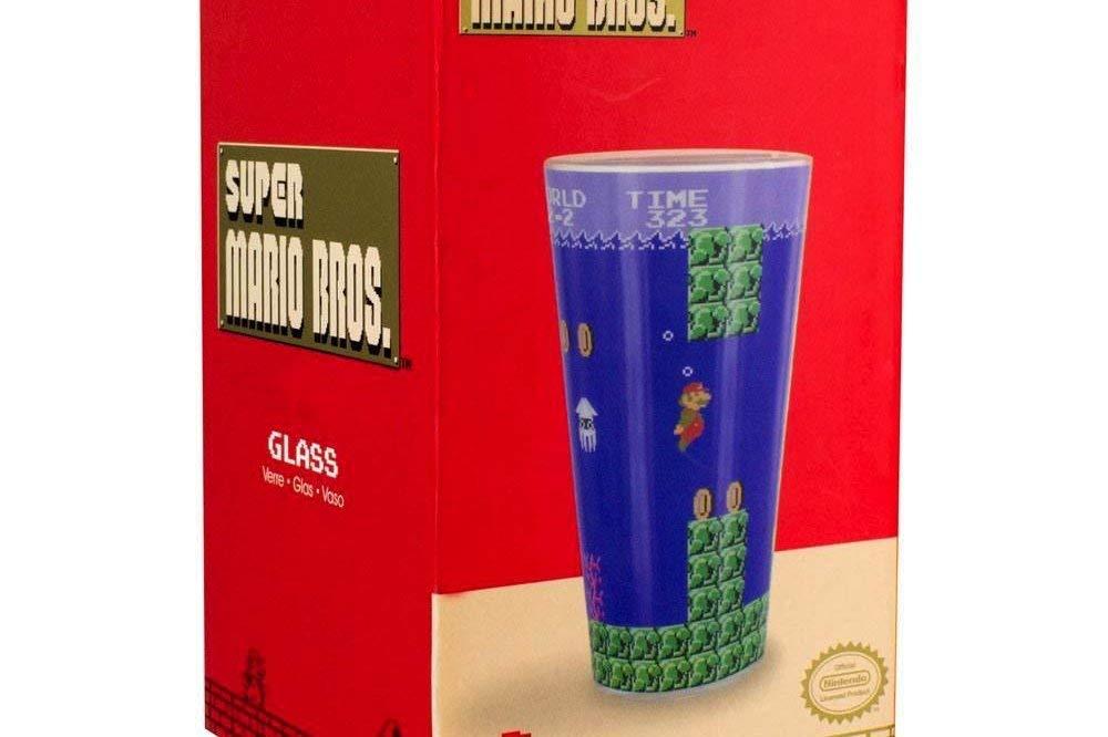 Super Mario Bros en Verre 9/x 9/x 15/cm Multicolore