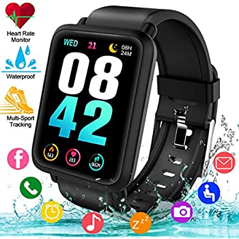 Amazon.com: Lintelek Smart Watch, Smartwatch Blood Pressure ...