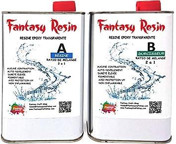 Résine époxy Transparente 225 Kg Super Transparent Effet Eau
