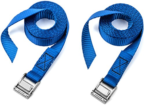 Two Pack of Premium Lashing Straps by Vault - Locking Bike Roof Rack