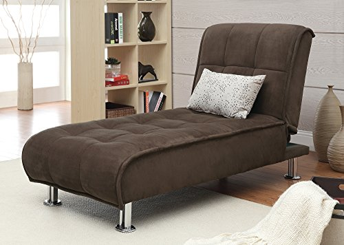 Coaster Home Furnishings Transitional Chaise, Brown