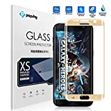 Samsung Galaxy S7 Edge Screen Protector [Full Coverage] [Tempered Glass] [Colored Edge], Popsky [3D Full Curved Edge] [No Bubble] Ultra Clear 9H Hardness Scratch Proof Protective Film (Gold)