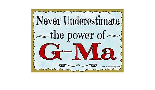 Nunca subestimes la potencia de G-mA abuela Imán de nevera ...