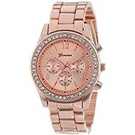 Ladies Wristwatch,SINMA Casual Faux Chronograph Bracelet Quartz Classic Round Crystals Wrist...