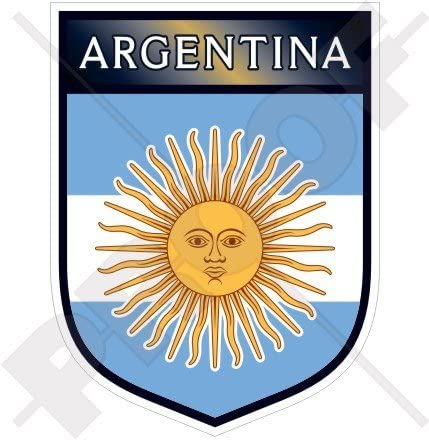 4 X 3 INCH ARGENTINA COUNTRY FLAG  METALLIC BUMPER STICKER DECAL .