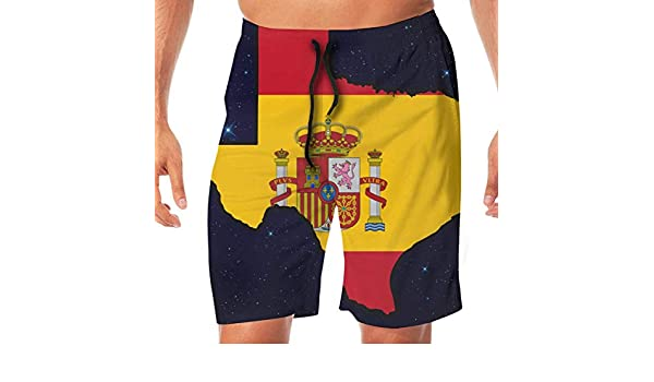 sheho Bandera de España Mapa de Texas Bañador para Hombre Pantalones Cortos para el hogar Bañador, Tamaño XL: Amazon.es: Ropa y accesorios