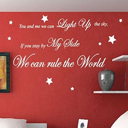 take that rule the world song lyrics wall quote stickers wall decals