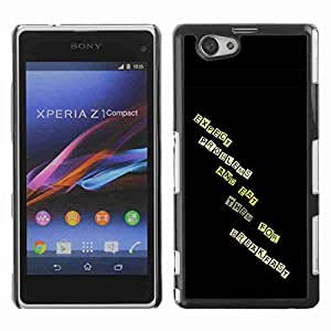 Planetar® ( Expect Problems And Eat Them For Breakfast ) Fundas Cover Cubre Hard Case Cover SONY Xperia Z1 mini