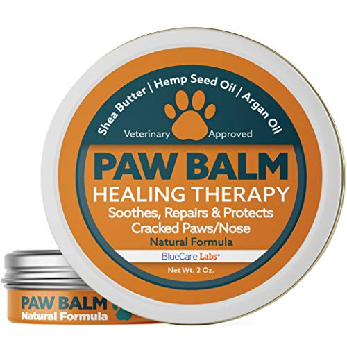 Paw Balm for Dogs and Cats Natural Paw Wax Protection Cracked Paw Repair Paw Moisturiser for Paw Pads Organic Healing Balm for Dog Paws Protects Dry and Chapped Paws Nose Feet Paw Care Made in the USA ()