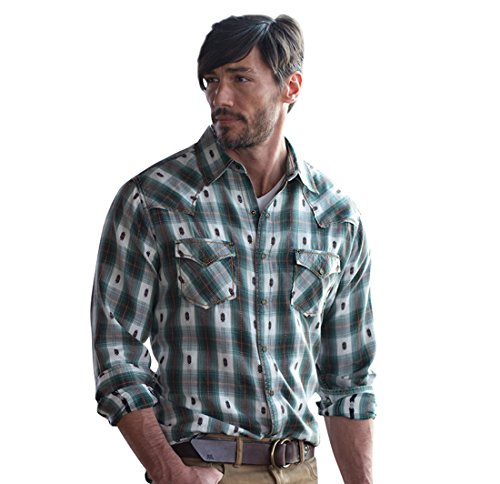 Ryan Michael - Brushed Ombre Dolby Plaid with Thunderbird Snaps Western Shirt