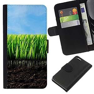 Lead-Star ( Young Grass) Colorida Impresión Funda Cuero Monedero Caja Bolsa Cubierta Caja Piel Card Slots Para Apple iPhone 5C