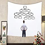 Grace Little Custom tapestry mindmap concept business man looking at the scheme of hierarchy management of organization