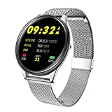 Fitness Tracker IP68 Waterproof for Swimming, FuriGer Color Screen Smart Bracelet with Heart Rate Blood Pressure Sleep Monitor,Smart Watch Pedometer Activity Tracker Bluetooth for Android & iOS-Sliver