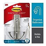 Command BATH36-SN-ES Large Double Bath Hook