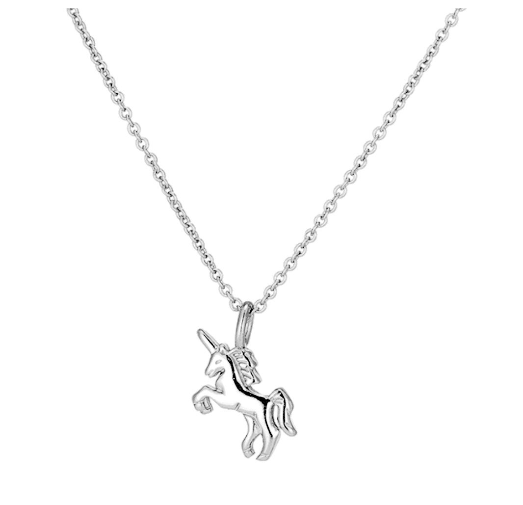 Unicorn Magic 925 Sterling Silver White Gold Plated Pendant Necklace for Women Girls d97vVEF2l