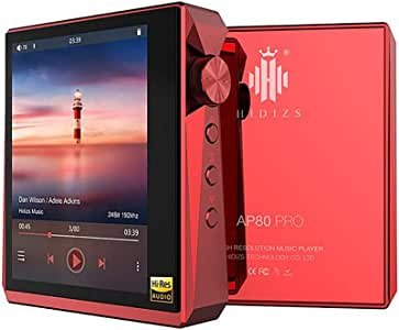 Hidizs AP80 Pro Mini Lossless Player HiFi Dual ESS9218P Bluetooth MP3 USB DAC Hi-Res Audio DSD64/128 Apt-X/LDAC FM Step Counter (Red)