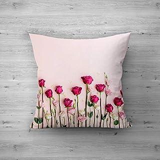 51OAFQKTvBL. SS320 Rose Flower Design Printed Cushion Cover