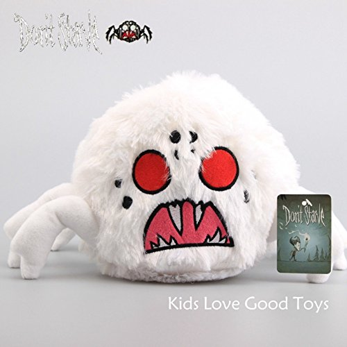 Shalleen Don't Starve hissing White Spider Plush doll toys stuffed (Tim Burton Alice In Wonderland Alice Blue Dress Costume)