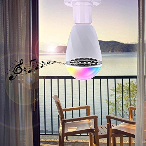 Altoparlanti Bluetooth, lampadina, lampadina LED Lampadina intelligente, Music–con moderno borsa cambio colori RGB, dimmerabile Light Technology, RGB luce di colore bianco per casa, palcoscenico, fe