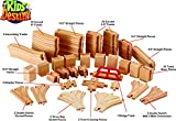 Wooden Train Track Deluxe Set: 110 Pieces - 100% Compatible with All Major Brands Including Thomas Train Wooden Railway System - By Kids Destiny