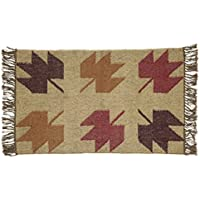 VHC Brands Harvest & Thanksgiving Rustic & Lodge Flooring - Braddock Tan angle Kilim Rug, 2 x 3