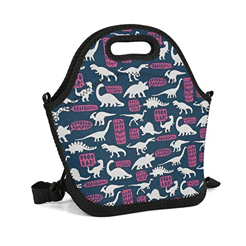 Vgfyujhg Dinosaurs Hear Me Roar Lunch Bag Water-Resistant Fun for Beach Tote Mom Bag (Cookies Kathleen's)
