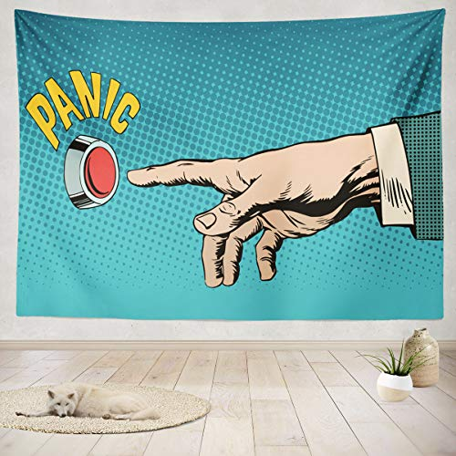 ASOCO Tapestry Wall Hanging Business Health Pop Art Retro Peace and Business Medicine and Health Comic Wall Tapestry for Bedroom Living Room Tablecloth Dorm 60X80 Inches