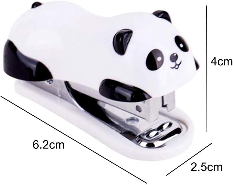 Mini ensemble dagrafes de bureau Panda mignon livr/é avec 1000PCS No.10 agrafes pour la maison de l/école de bureau ou lutilisation de voyage Agrafeuse Panda