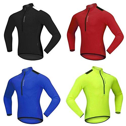 [해외] SunniMix 4색 롱 슬리브 사이클링 (jersey)저지 오토바이 자전거 셔츠 사이클링 의류 톱 방풍성 잘