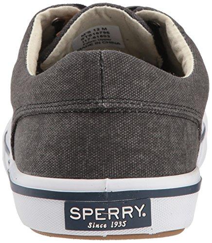 Sperry Top-sider Mænds Striper Ii Cvo Vasket Sneaker Sort 3MAd66z0F