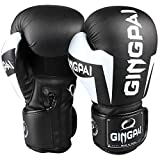 GINGPAI Boxing Gloves for Men Women,Leather Boxing