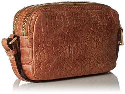 Joop! Croco Soft Leandra Shoulderbag Xshz, Borsa a spalla Donna, marrone, 6x12x20 cm (B x H x T)