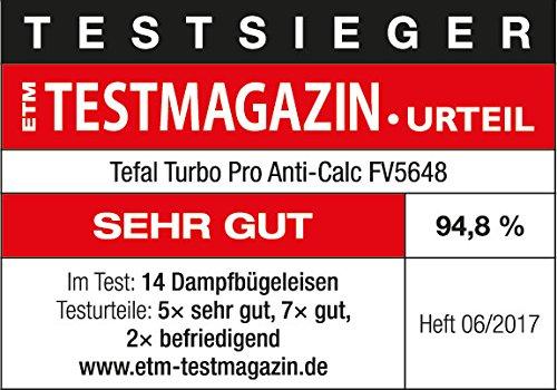 Tefal FV5648 Aquaspeed Turbo Pro Anti-Calc Dampfbügeleisen , 220 g/min Dampfstoß, 2600 W, dunkelgrau/velvet-blau 7