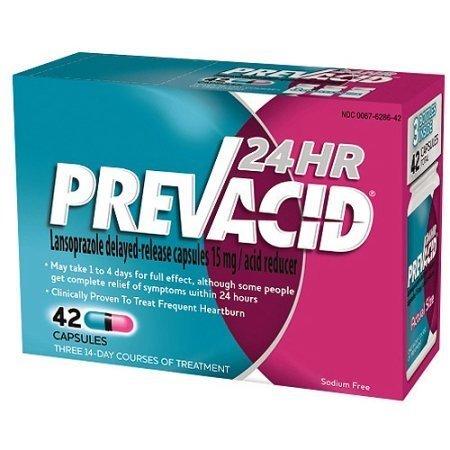 Prevacid Heartburn Relief 24 Hour Capsules 42 Count per Box (3 Pack)