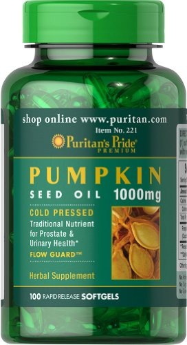 Puritan's Pride Pumpkin Seed Oil 1000 mg-100 Softgels
