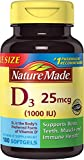 Nature Made Vitamin D3 1000 IU Softgels, 180 Ct Review