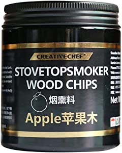 CREATIVECHEF Smoking Gun Cocktail Smoker Cocktail Smoker Drink Smoker Smoke Infuser Chip Food Smoker Chip to Enhance Taste for Meat,Sous Vide, BBQ, Cocktail Drinks & Cheese Chip (Apple Chip)