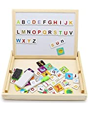 Magnetic Educational English Chalkboard - Magnet Face & Chalk Lettering Face - Montessori