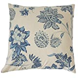 The Pillow Collection KING-LCR-THAI-BUE-C100 Mairead Floral Bedding Sham, King/20'' x 36'', Blue