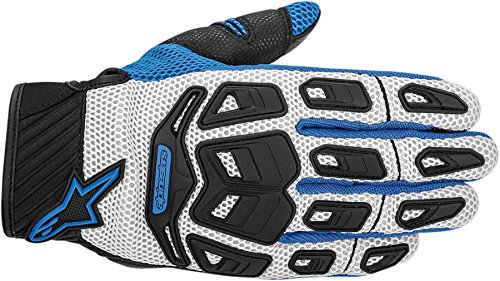 NEW ALPINESTARS ATACAMA AIR ADULT LEATHER/MESH GLOVES, COOL GRAY/BLUE, XL
