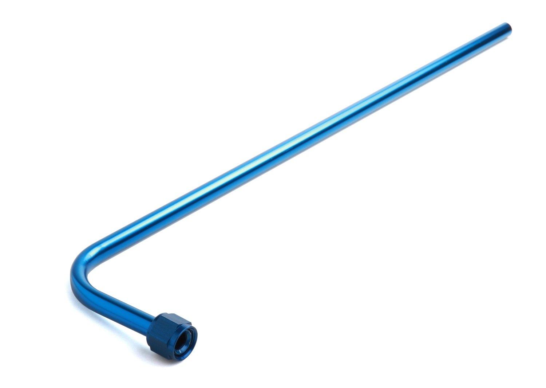 NOS 16160NOS Blue Anodized Aluminum Nitrous Bottle Valve Blow Down Tube